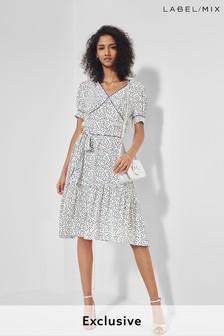 Mix/Cefinn Printed Tea Dress
