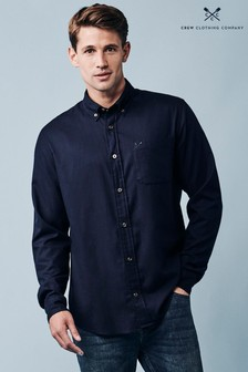 Crew Clothing Company Blue Greenfield Classic Shirt