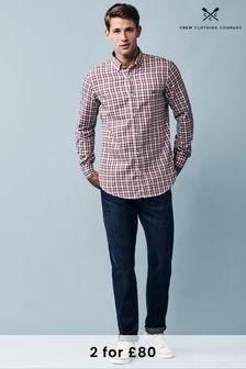 Crew Clothing Company Pink Castleshaw Slim Shirt