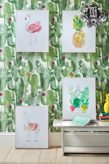 Lucky Llama Wall Art by Art For The Home