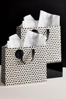 Set of 2 Monochrome Spot Gift Bags