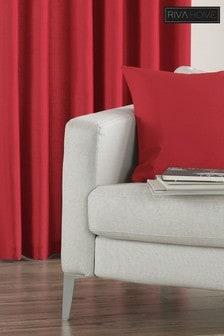 Riva Home Red Fiji Faux Silk Cushion
