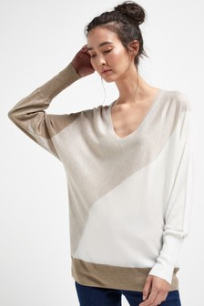 Dolman V-Neck Jumper
