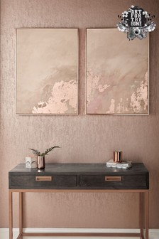 Set of 2 Rose Gold Serenity Wall Art by Art For The Home