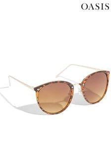 Oasis Grey Thin Frame Sunglasses