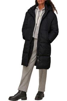 Whistles Black Hooded Padded Jacket