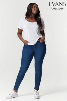 Evans Curve Regular Mid Wash Skinny Jeans