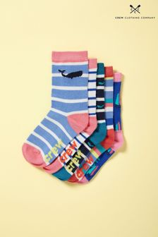 Crew Clothing Blue Bamboo Socks Five Pack