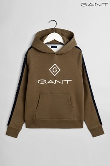 GANT Green Lock Up Stripe Hoody