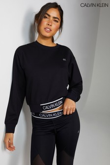 Calvin Klein Black Cropped Pullover