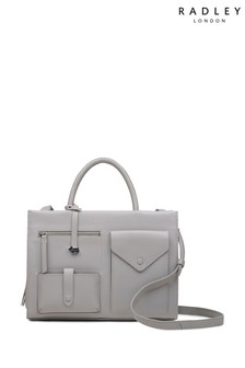 Radley Grey Wilton Way Medium Zip Top Multiway Bag