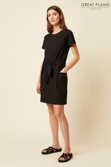 Great Plains Black Pia Ponte Round Neck Dress