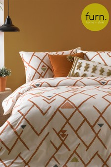Furn Inka Geo Duvet Cover and Pillowcase Set