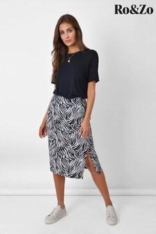 Ro&Zo Animal Zebra Split Skirt