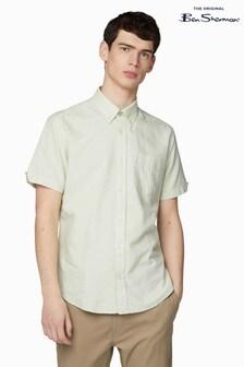 Ben Sherman Green Short Sleeve Signature Oxford Shirt