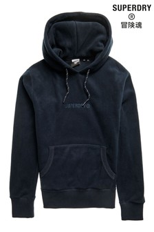 Superdry Navy Fleece Hoody