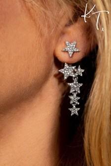 Kate Thornton 'Sparkling Stars' Silver Multiway Earrings