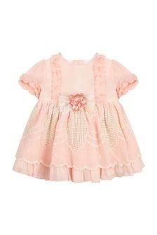 Miranda Baby Girls Pink Cotton Dress