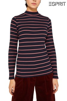 Esprit Blue Jersey Striped T-Shirt