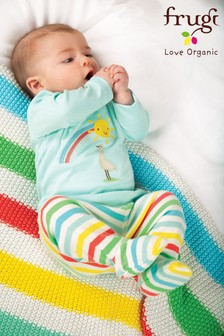 Frugi GOTS Organic Rainbow Pull-Ups With Feet