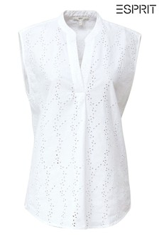 Esprit White Short Sleeve Blouse