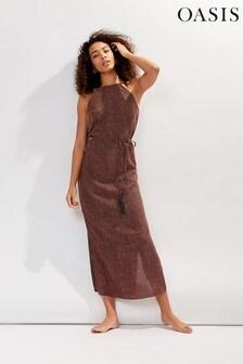 Oasis Black Spot Midi Dress