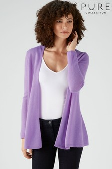 Pure Collection Purple Gassato Swing Cardigan