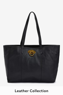Leather Lock Shopper