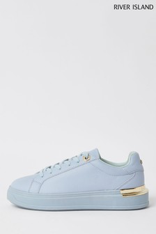River Island Blue Chunky Drench Lace-Up Shoes