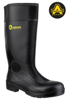 Amblers Safety Black FS100 Construction Safety Wellington Boots