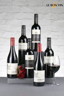 Set of 6 Relaxing Reds Wine Selection by Le Bon Vin