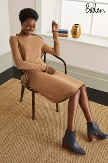 Boden Camel Lara Knitted Dress