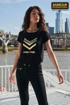 Barbour® International Black Scorpion Gold Logo T-Shirt