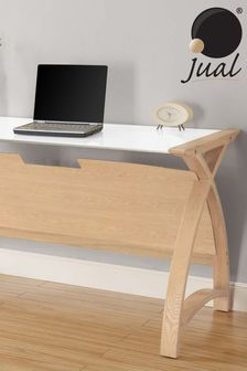 Helsinki 1300 Oak Laptop Table by Jual