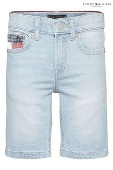 Tommy Hilfiger Blue Bleached Spencer Denim Shorts