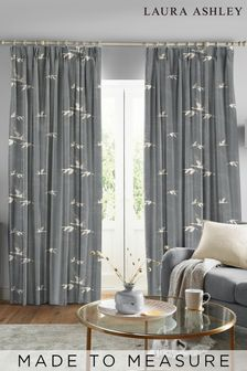 Laura Ashley Steel Animalia Made to Measure Curtains