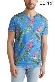 Esprit Blue Flower Print T-Shirt
