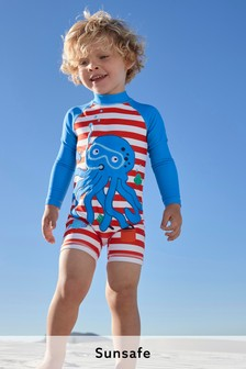 Long Sleeve Sunsafe Swimsuit and Hat (3mths-7yrs)