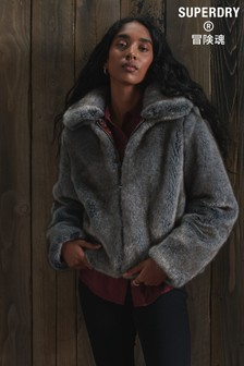Superdry Boho Faux Fur Jacket