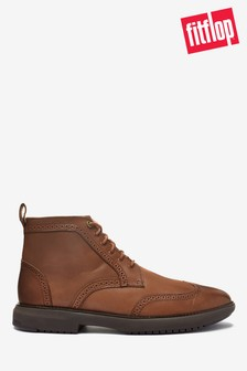 FitFlop™ Brown Odyn Brogue Boots