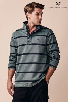 Crew Clothing Company Green Padstow Pique Sweater