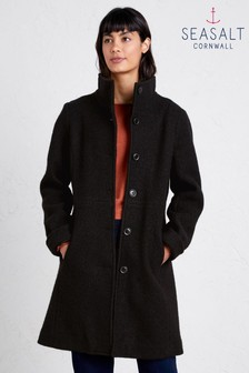 Seasalt Black Falmouth Dawn Coat