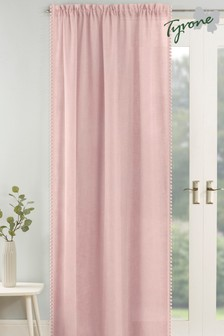 Tyrone Tahiti Pom Pom Trim Sheer Voile Panel