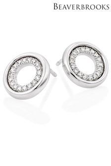 Beaverbrooks Cubic Zirconia Circle Earrings