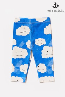 Noé & Zoë Blue Clouds Baby Leggings