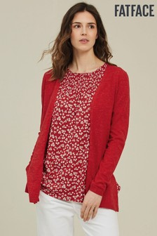 FatFace Red Darcey Cardigan