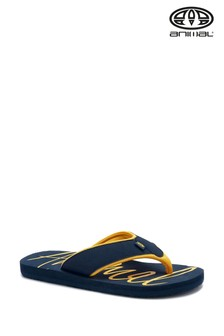 Animal Blue Swish Logo Flip Flops