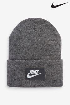 Nike Adults Grey Swoosh Beanie Hat