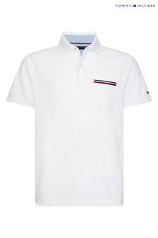 Tommy Hilfiger Global Stripe Pocket Detail Polo
