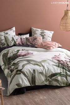 Alice Large Floral Duvet Cover and Pillowcase Set by Linen House